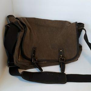 100% Cotton Merona Messenger Bag